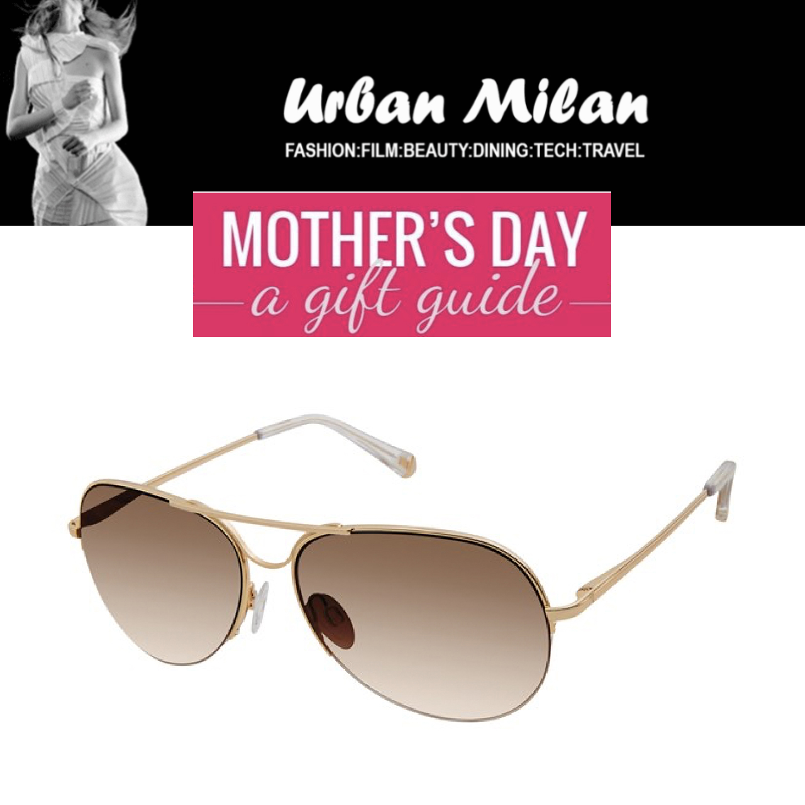 KATE YOUNG FOR TURA FEATURED IN URBAN MILAN – MOTHER'S DAY GIFT GUIDE