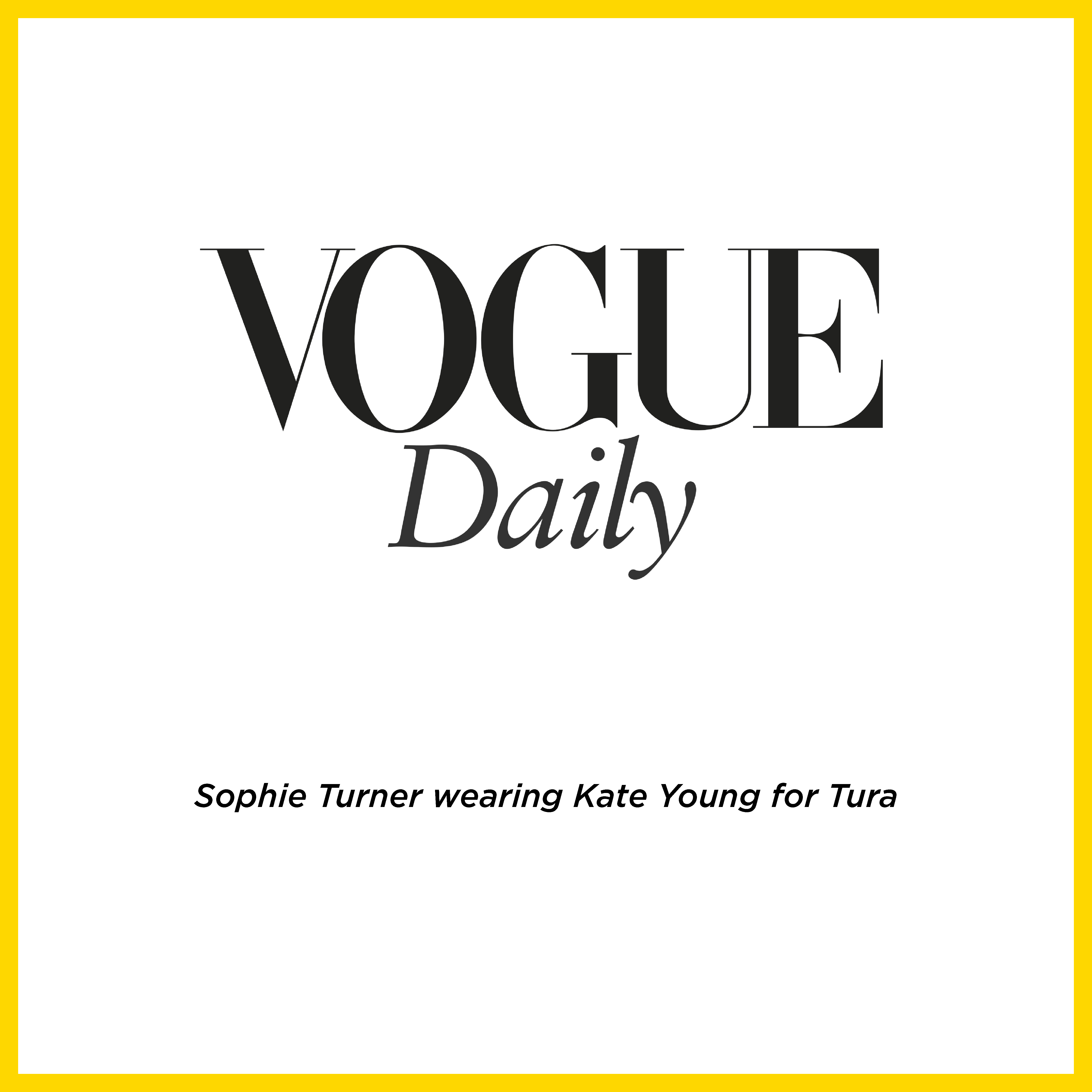 SOPHIE TURNER WEARING KATE YOUNG FOR TURA K557 TOR ON THE COVER OF VOGUE DAILY